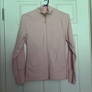 Athletics pink zip size small w/thumb holes